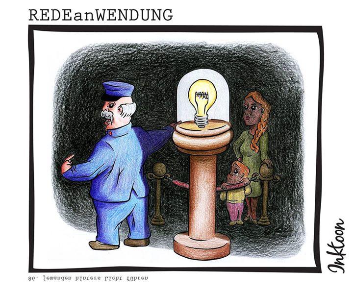 jemanden hinters Licht führen Redewendung Redeanwendung Bilderrätsel toon inktoon Illustration Grafik Sprichwort Bild